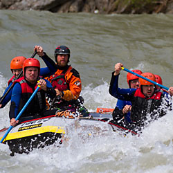 Teamevent und Teambuilding Rafting Einsteiger Tirol