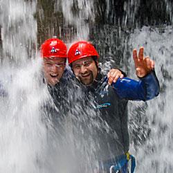 Teamevent und Betriebsausflug Canyoning Einsteiger Tirol
