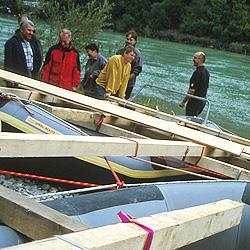 Teamevent und Teambuilding Flossbau Donau