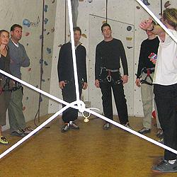 Teamevent und Teambuilding Klettern