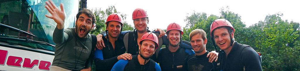 Betriebsausflug Outdoor mit Kanu, Rafting, Canyoning und Wandern