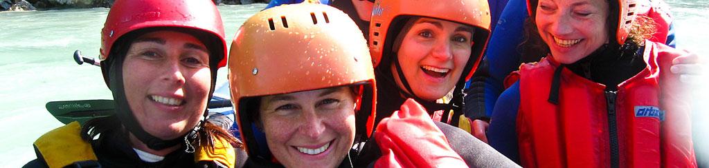 Teambuilding Outdoor mit Rafting, Canyoning, Kanu, Geocaching, Offroad und mehr