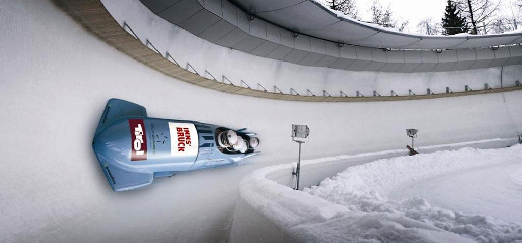 Teamevent Rennbob Taxi in Innsbruck