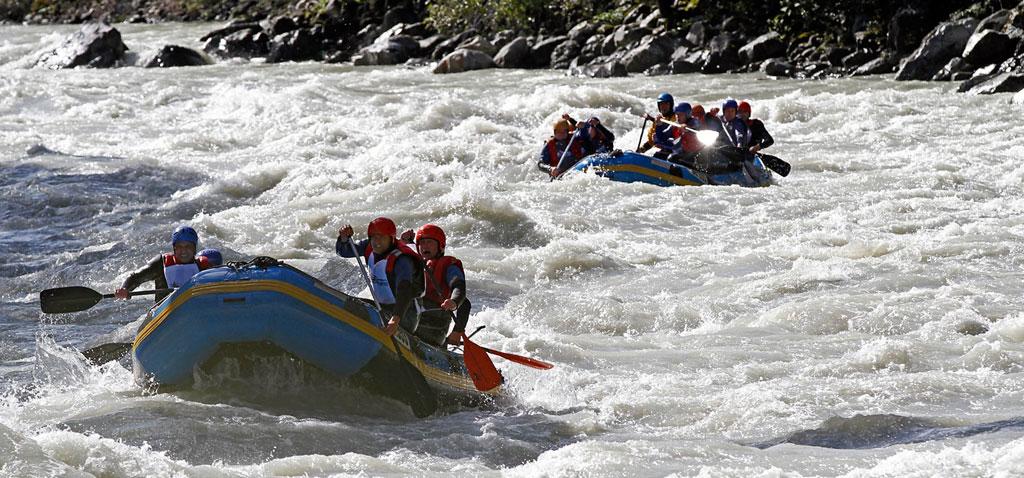 Teamevent Rafting Wochenende in der Ötzal Region