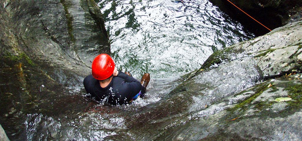 Canyoning Teamevent Einsteigertour in der Ötztal Region in Tirol