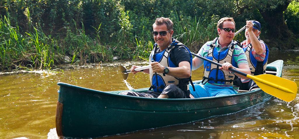 Teamevent Kanu Wochenende mit Camp Übernachtung Altmühl